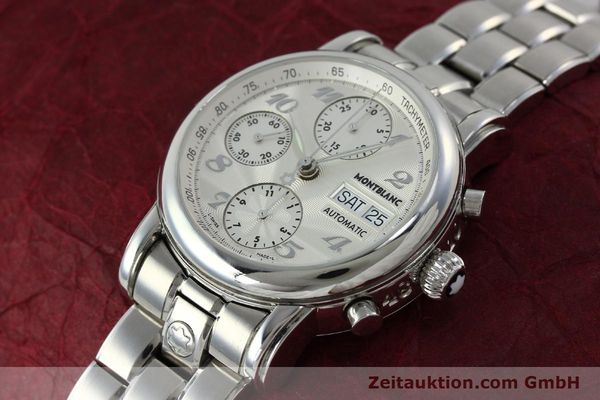 Used luxury watch Montblanc Meisterstück chronograph steel automatic Kal. 4810501 Ref. 7016  | 151673 01