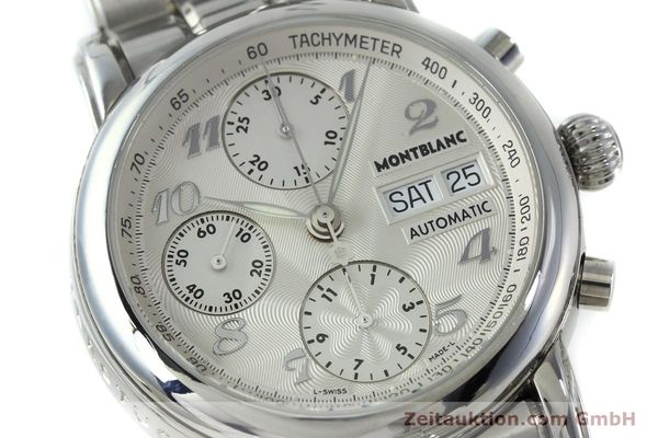 Used luxury watch Montblanc Meisterstück chronograph steel automatic Kal. 4810501 Ref. 7016  | 151673 02