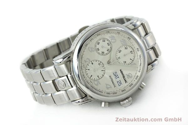 Used luxury watch Montblanc Meisterstück chronograph steel automatic Kal. 4810501 Ref. 7016  | 151673 03
