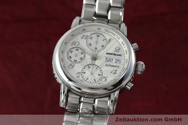 Used luxury watch Montblanc Meisterstück chronograph steel automatic Kal. 4810501 Ref. 7016  | 151673 04