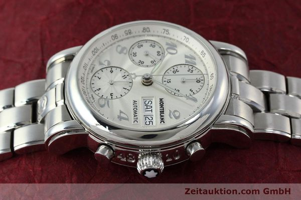 Used luxury watch Montblanc Meisterstück chronograph steel automatic Kal. 4810501 Ref. 7016  | 151673 05