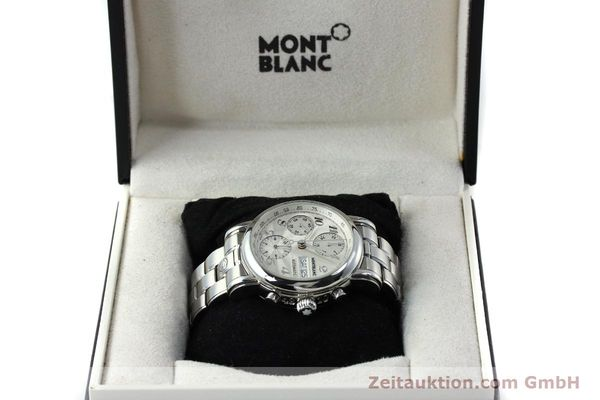 Used luxury watch Montblanc Meisterstück chronograph steel automatic Kal. 4810501 Ref. 7016  | 151673 07
