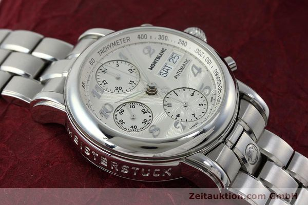 Used luxury watch Montblanc Meisterstück chronograph steel automatic Kal. 4810501 Ref. 7016  | 151673 15