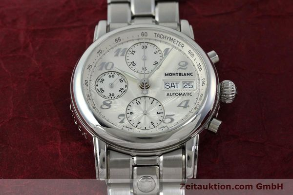 Used luxury watch Montblanc Meisterstück chronograph steel automatic Kal. 4810501 Ref. 7016  | 151673 16