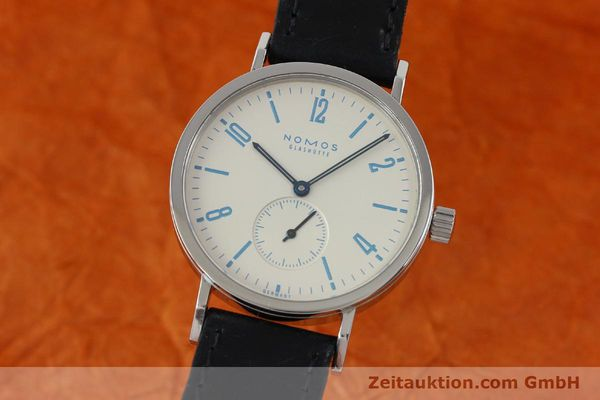 Used luxury watch Nomos Tangente Sport steel manual winding Kal. Alpha 7417 LIMITED EDITION | 151699 04