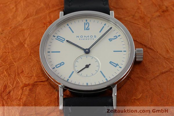 Used luxury watch Nomos Tangente Sport steel manual winding Kal. Alpha 7417 LIMITED EDITION | 151699 16