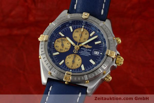 Used luxury watch Breitling Crosswind chronograph steel / gold automatic Kal. B13 ETA 7750 Ref. B13355  | 151710 04