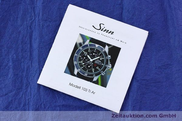 Used luxury watch Sinn 103 Ti Ar chronograph titanium automatic Kal. ETA 7750 Ref. 103.16167  | 151719 08
