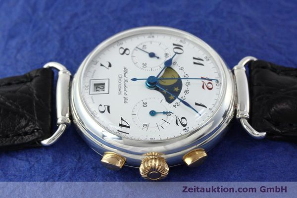 Used luxury watch Chronoswiss A. Rochat chronograph silver manual winding Kal. Valj. 7733  | 151733 05