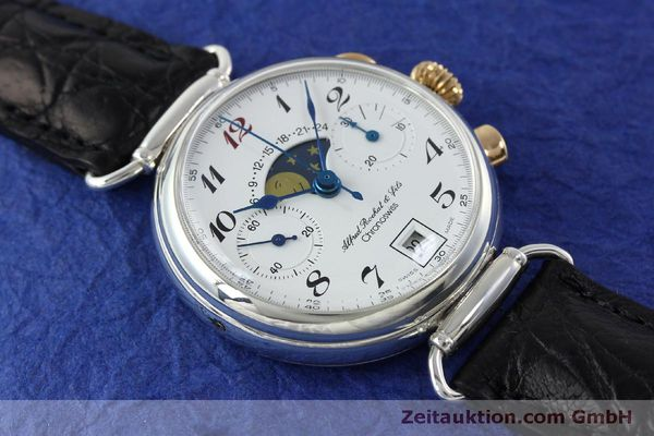 Used luxury watch Chronoswiss A. Rochat chronograph silver manual winding Kal. Valj. 7733  | 151733 15