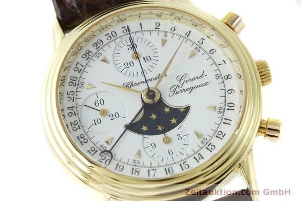 Used luxury watch Girard Perregaux 4745 chronograph 18 ct gold automatic Kal. Valj.  7750 Ref. 47450J  | 151735 02