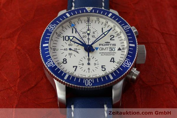 Used luxury watch Fortis B42 chronograph steel automatic Kal. ETA 7750 Ref. 643.10.172  | 151740 14