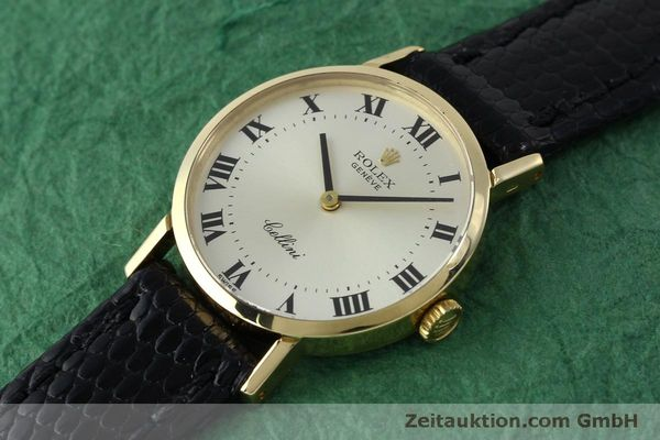 Used luxury watch Rolex Cellini 18 ct gold manual winding Kal. 1600 Ref. 4109  | 151759 01