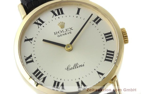 Used luxury watch Rolex Cellini 18 ct gold manual winding Kal. 1600 Ref. 4109  | 151759 02