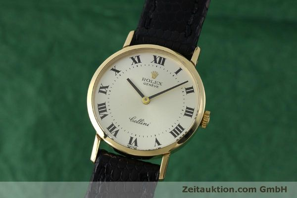 Used luxury watch Rolex Cellini 18 ct gold manual winding Kal. 1600 Ref. 4109  | 151759 04