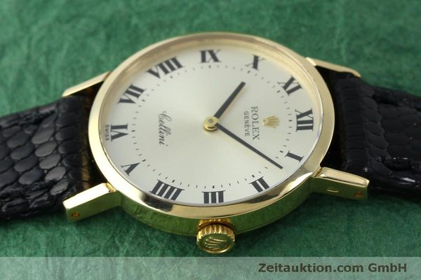 Used luxury watch Rolex Cellini 18 ct gold manual winding Kal. 1600 Ref. 4109  | 151759 05