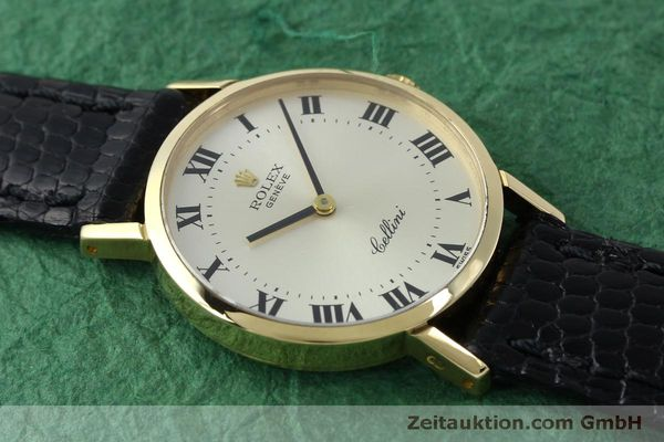 Used luxury watch Rolex Cellini 18 ct gold manual winding Kal. 1600 Ref. 4109  | 151759 13