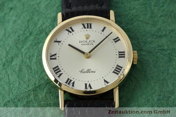 Used luxury watch Rolex Cellini 18 ct gold manual winding Kal. 1600 Ref. 4109  | 151759 14
