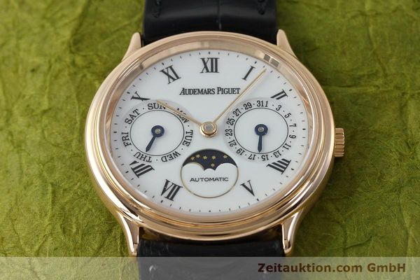 Used luxury watch Audemars Piguet Day-Date Moonphase 18 ct red gold automatic Kal. 2124  | 151764 16