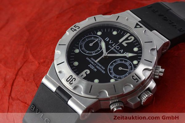 Used luxury watch Bvlgari Scuba chronograph steel automatic Kal. 2280MBBB Ref. SCB38S  | 151774 01