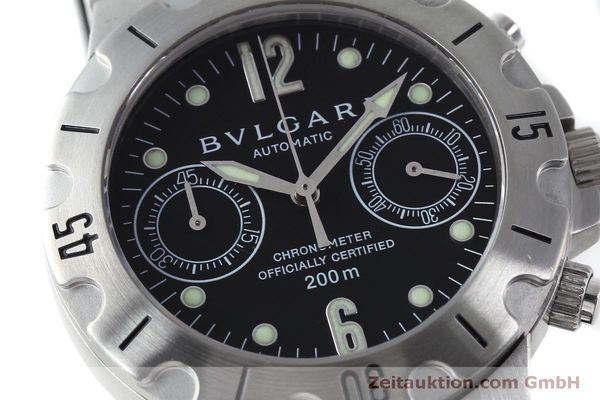 Used luxury watch Bvlgari Scuba chronograph steel automatic Kal. 2280MBBB Ref. SCB38S  | 151774 02