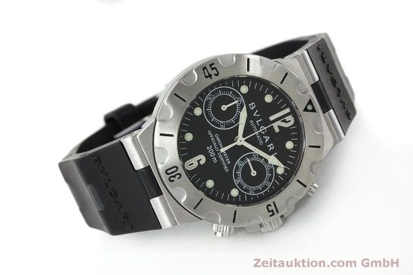 Used luxury watch Bvlgari Scuba chronograph steel automatic Kal. 2280MBBB Ref. SCB38S  | 151774 03