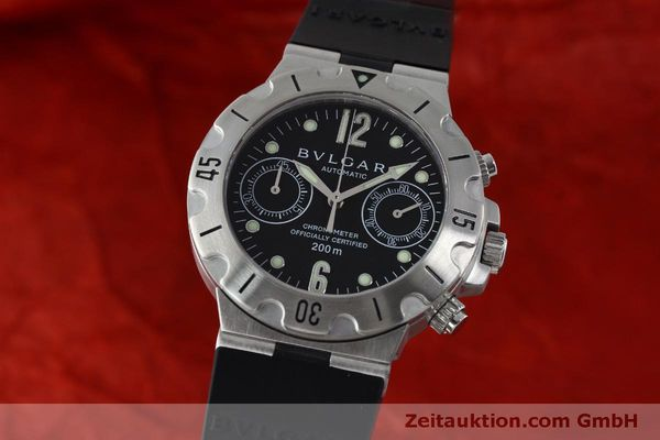 Used luxury watch Bvlgari Scuba chronograph steel automatic Kal. 2280MBBB Ref. SCB38S  | 151774 04