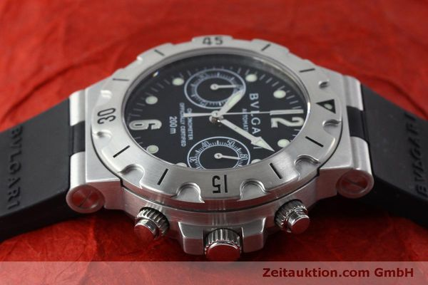 Used luxury watch Bvlgari Scuba chronograph steel automatic Kal. 2280MBBB Ref. SCB38S  | 151774 05