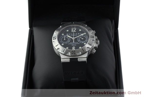 Used luxury watch Bvlgari Scuba chronograph steel automatic Kal. 2280MBBB Ref. SCB38S  | 151774 07