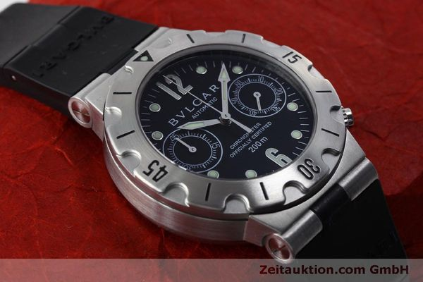 Used luxury watch Bvlgari Scuba chronograph steel automatic Kal. 2280MBBB Ref. SCB38S  | 151774 14