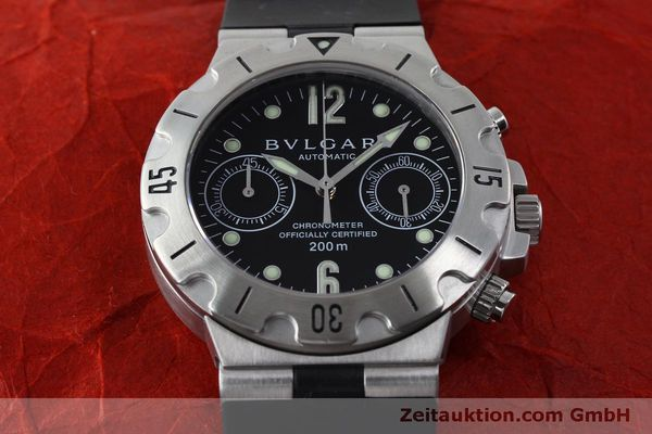 Used luxury watch Bvlgari Scuba chronograph steel automatic Kal. 2280MBBB Ref. SCB38S  | 151774 15
