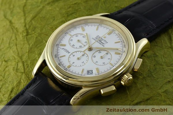 Used luxury watch Zenith Elprimero chronograph 18 ct gold automatic Kal. 400 Ref. 30.0220.400  | 151781 01