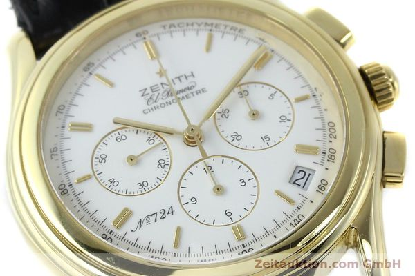 Used luxury watch Zenith Elprimero chronograph 18 ct gold automatic Kal. 400 Ref. 30.0220.400  | 151781 02