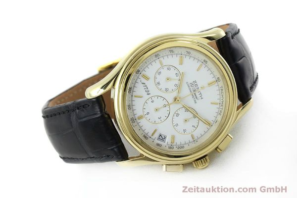 Used luxury watch Zenith Elprimero chronograph 18 ct gold automatic Kal. 400 Ref. 30.0220.400  | 151781 03
