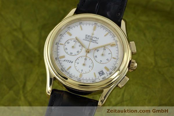 Used luxury watch Zenith Elprimero chronograph 18 ct gold automatic Kal. 400 Ref. 30.0220.400  | 151781 04