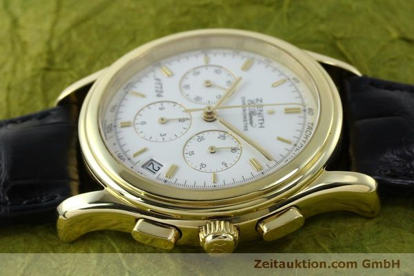 Used luxury watch Zenith Elprimero chronograph 18 ct gold automatic Kal. 400 Ref. 30.0220.400  | 151781 05