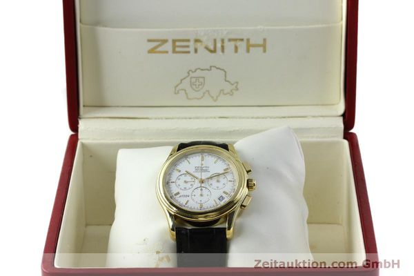 Used luxury watch Zenith Elprimero chronograph 18 ct gold automatic Kal. 400 Ref. 30.0220.400  | 151781 07
