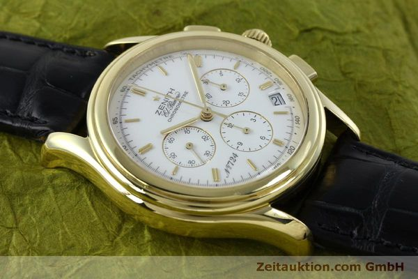 Used luxury watch Zenith Elprimero chronograph 18 ct gold automatic Kal. 400 Ref. 30.0220.400  | 151781 14