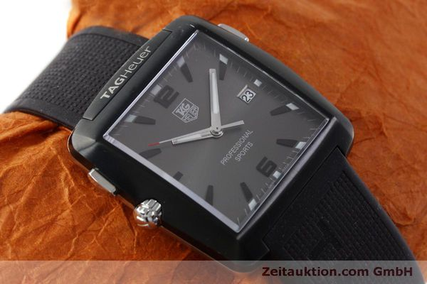 Used luxury watch Tag Heuer Professional steel / titanium quartz Kal. Ronda 1005 Ref. WAE1113  | 151782 13