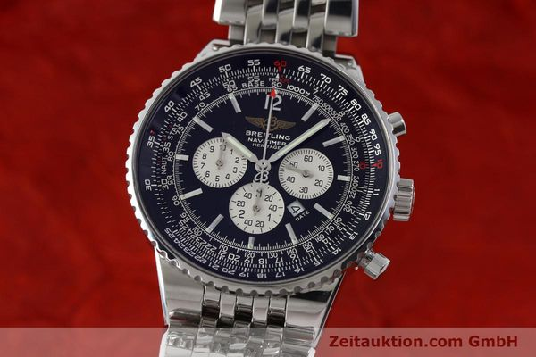 Used luxury watch Breitling Navitimer chronograph steel automatic Kal. B35 ETA 2892A2 Ref. A35350  | 151812 04