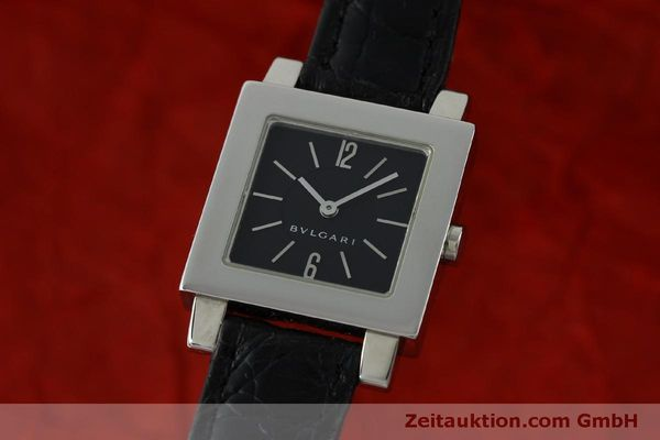 Used luxury watch Bvlgari Quadrato steel quartz Ref. SQ22SL  | 151813 04