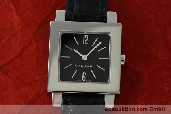 Used luxury watch Bvlgari Quadrato steel quartz Ref. SQ22SL  | 151813 15