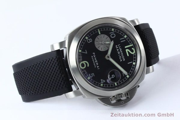 Used luxury watch Panerai Luminor Marina steel automatic Kal. 7750-P1 ETA A05511 Ref. OP6553  | 151818 03