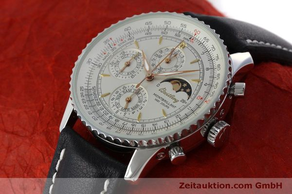 Used luxury watch Breitling Montbrillant chronograph steel automatic Kal. B19 ETA 2892A2 Ref. A19030  | 151828 01