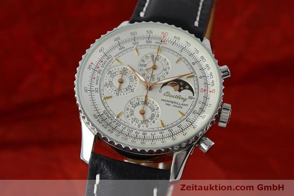 Used luxury watch Breitling Montbrillant chronograph steel automatic Kal. B19 ETA 2892A2 Ref. A19030  | 151828 04
