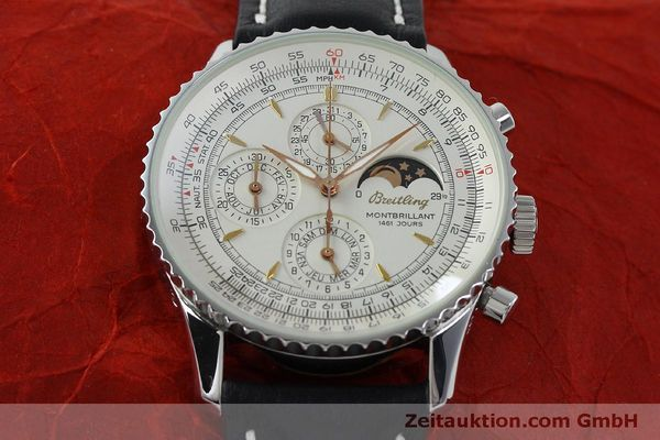 Used luxury watch Breitling Montbrillant chronograph steel automatic Kal. B19 ETA 2892A2 Ref. A19030  | 151828 13