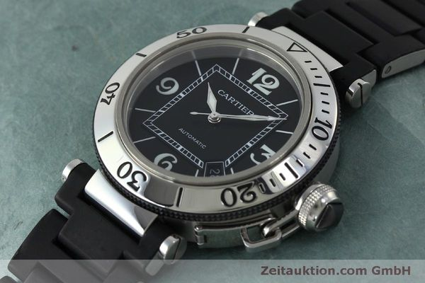 Used luxury watch Cartier Pasha steel automatic Kal. 049 ETA 2892A2 Ref. 2790  | 151841 01