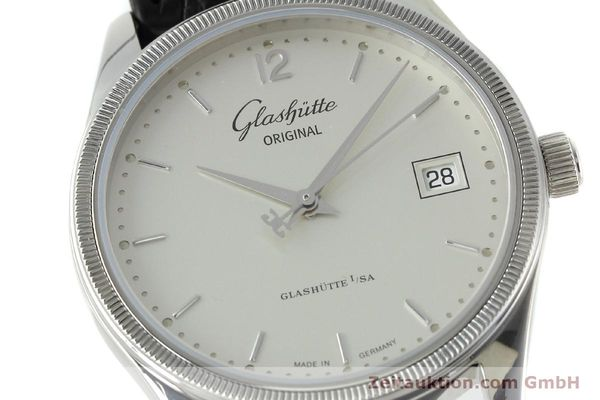Used luxury watch Glashütte Senator steel automatic Kal. GUB 10-30 Ref. 11033030404  | 151846 02