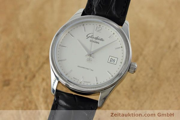 Used luxury watch Glashütte Senator steel automatic Kal. GUB 10-30 Ref. 11033030404  | 151846 04