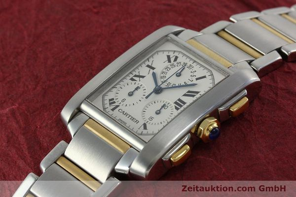 Used luxury watch Cartier Tank Francaise chronograph steel / gold quartz Kal. 212P Ref. 2303  | 151850 01